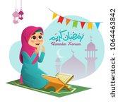 Illustration Of A Muslim Girl...