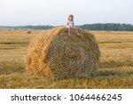little girl walking in the... | Shutterstock . vector #1064466245