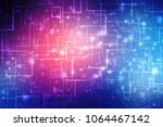 digital abstract technology... | Shutterstock . vector #1064467142