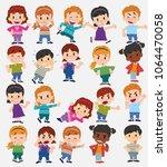 cartoon character boys and... | Shutterstock .eps vector #1064470058