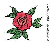 tattoo pion or rose flower... | Shutterstock .eps vector #1064470256