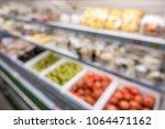 defocused of vegetables and... | Shutterstock . vector #1064471162