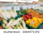 defocused of vegetables and... | Shutterstock . vector #1064471192