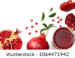 pomegranate juice with... | Shutterstock . vector #1064471942