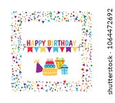 birthday card. background with... | Shutterstock .eps vector #1064472692