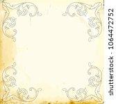 retro baroque decorations... | Shutterstock .eps vector #1064472752