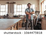 portrait of a skilled young...   Shutterstock . vector #1064475818