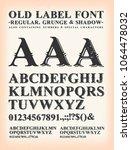vintage old label western font  ... | Shutterstock .eps vector #1064478032