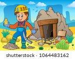 miner theme image 2   eps10... | Shutterstock .eps vector #1064483162