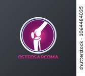 osteosarcoma medical icons ... | Shutterstock .eps vector #1064484035