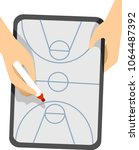 illustration of a coach hands... | Shutterstock .eps vector #1064487392