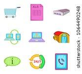 wholesale warehouse icons set.... | Shutterstock .eps vector #1064490248