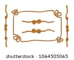 marine rope frames and knots... | Shutterstock .eps vector #1064505065
