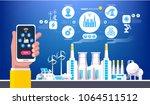 industrial infographic.... | Shutterstock .eps vector #1064511512