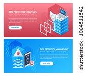 3d isometric vector flat banner ... | Shutterstock .eps vector #1064511542