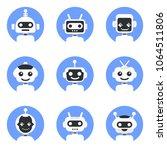 chatbot symbol  logo template.... | Shutterstock .eps vector #1064511806