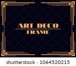 art deco frame. vintage linear... | Shutterstock .eps vector #1064520215