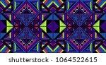tribal vector ornament.... | Shutterstock .eps vector #1064522615