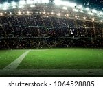 stadium with fans the night the ... | Shutterstock . vector #1064528885