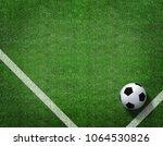 3d rendering of soccer ball... | Shutterstock . vector #1064530826