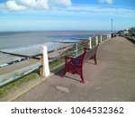 Red Bench On Seafront Promenade