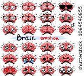 set. brain emotions. | Shutterstock .eps vector #1064540855