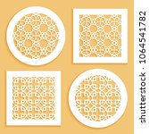 templates for laser cutting ... | Shutterstock .eps vector #1064541782