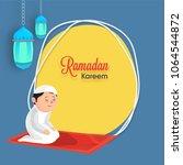 ramadan kareem concept with an... | Shutterstock .eps vector #1064544872