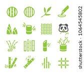 bamboo icon set   Shutterstock .eps vector #1064545802