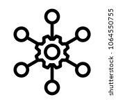 multi channel icon  vector... | Shutterstock .eps vector #1064550755