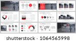 red and black business... | Shutterstock .eps vector #1064565998