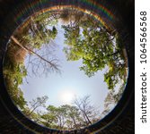 circular fisheye view of...   Shutterstock . vector #1064566568