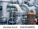 pipeline system of a powerful... | Shutterstock . vector #1064568806
