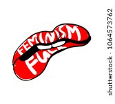 feminist conceptual poster in... | Shutterstock .eps vector #1064573762