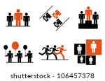 leadership and benefits icon... | Shutterstock .eps vector #106457378