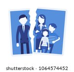 family breakup problem. photo... | Shutterstock .eps vector #1064574452