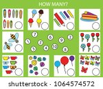 counting educational children... | Shutterstock .eps vector #1064574572
