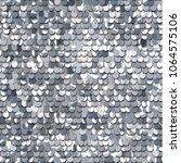 seamless silver texture of... | Shutterstock .eps vector #1064575106