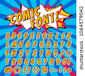 comic font vector cartoon... | Shutterstock .eps vector #1064579042