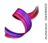 3d render  abstract red violet... | Shutterstock . vector #1064584025