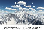 mountain panorama with nice... | Shutterstock . vector #1064590055