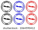 made in java   rubber stamp  ...   Shutterstock .eps vector #1064590412