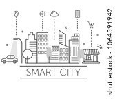 illustration of smart city. | Shutterstock .eps vector #1064591942