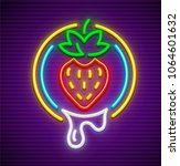 strawberry neon sign icon for... | Shutterstock .eps vector #1064601632