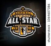 all stars of basketball  logo ... | Shutterstock .eps vector #1064607386