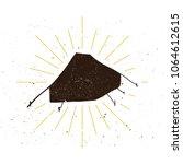 retro tent silhouette logo.... | Shutterstock .eps vector #1064612615