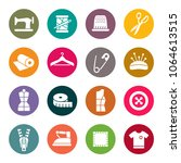 sewing icon set | Shutterstock .eps vector #1064613515