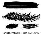 set different grunge brush...   Shutterstock .eps vector #1064618042