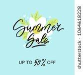 summer sale   vector...   Shutterstock .eps vector #1064618228