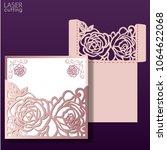 laser cut wedding invitation... | Shutterstock .eps vector #1064622068